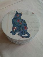 My first Decoupage Cat by SteamJo