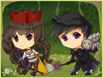 RS: Chibi Nat And Araxxor by Tifa-Amakura