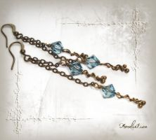 Bronze Swarovski Earrings by AmeliaLune