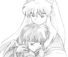 inuyasha and kikyou by Fangheist