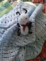 Baby Blanket with Blue Ant set by LilliM00