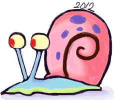 Gary the snail. by DaRainbowGurl