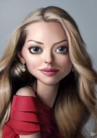 Amanda Seyfried caricature by PapaNinja