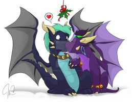 A Mistletoe for the Young by Inked-Alpha
