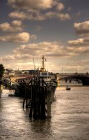 Ship on the Thames by Veganvictim