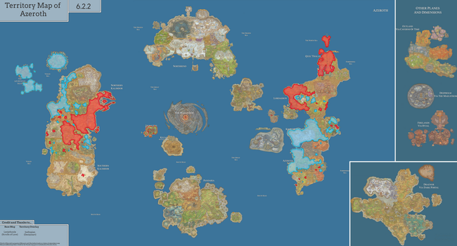 Political Map of Azeroth [7.0] by joeltopian