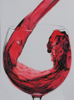 Red Wine part 1 - Pastels by 6re9