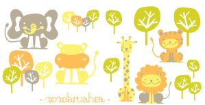 Baby Animals by xoxobrushes