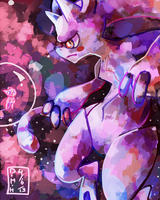 New Mewtwo Form by LadyKuki