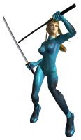 Zero Suit Samus with Katanas by Ryu-Gi