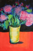 A vase of Pink by Yoonett