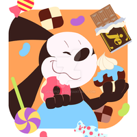 Treats! Treats! Treats! -Oswald by jenopizza