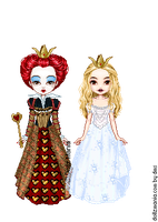 The Two Queens of Wonderland by MoneyHoney22