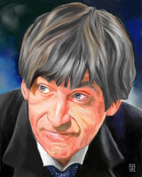 Patrick Troughton as The Doctor by The-Tinidril