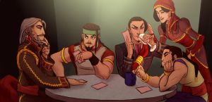 playing card with family by MPdigitalART