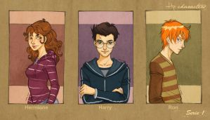 Hp characters_serie 1 by mary-dreams