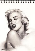 vintage beauty marilyn monroe by rachdeart