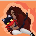 Ava and Litten by lu40953