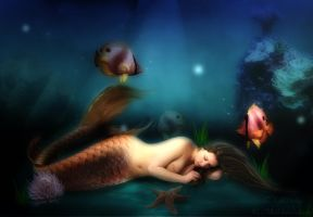 Sleeping Mermaid by LDKath