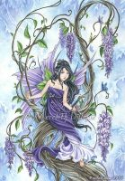 Book art - Wisteria 2 by MeredithDillman