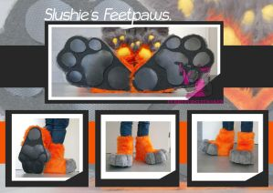 Slushies Feetpaws - commission by FurryFursuitMaker