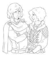 Commission: Lorenzo and Chell by hyperionwitch