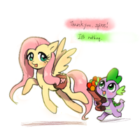 fluttershy's wings and Friend by quizia
