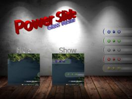 Power Slide skin for Rainmeter (Glass version) by exe4que