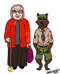Old lady and the wolf by VideoGamesrock