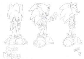 Sonic The Hedgehog Turn-around by FritzyBeat