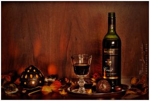 Still life with red wine by Argolith