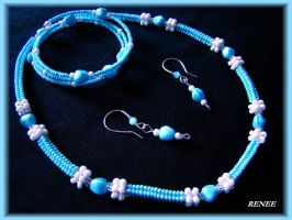Blue and white set by jasmin7