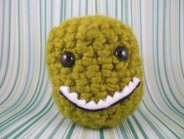 Amigurumi Green Monster Ball by AmiTownCreatures