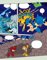 Sonic Base 29~Comic Page 1~With Background~ by Xbox-DS-Gameboy