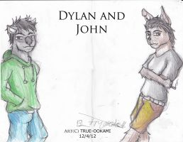 Giftart: Dylan and John by true-ookami