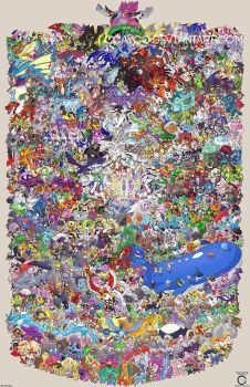 Pokemon Draw Em All (Gen 1-6) by ccayco