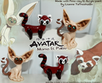 -Sculptures- Momo and Pabu, Team Avatar Mascots by Makirou