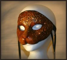 Coppery Cat Mask by Qarrezel