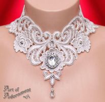 Argenta Baroque Lace Choker by ArtOfAdornment