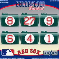 Colorflow Red Sox Numbers by JayJaxon