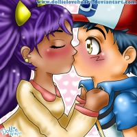 Ash and Iris KISSING by dollieloveheart
