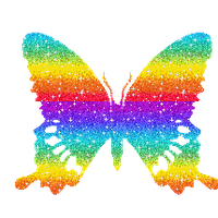 Rainbow Butterfly PNG by SugarPaula
