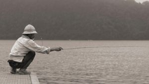 Fisherman B and W by Abylone