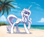 Fleur at the beach by KP-ShadowSquirrel