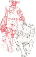 Hellboy Remix pencils by MisterHardtimes