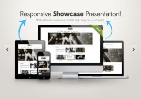 Responsive Showcase Psd by Pixeden
