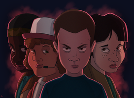 Stranger Things by hiwiii