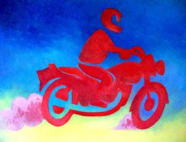 Red Motorcycle by NittyGritty71