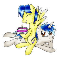 Gift: Cake is best friend by crasydwarf