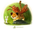 Daily Paint #1225. Tiger Moth by Cryptid-Creations